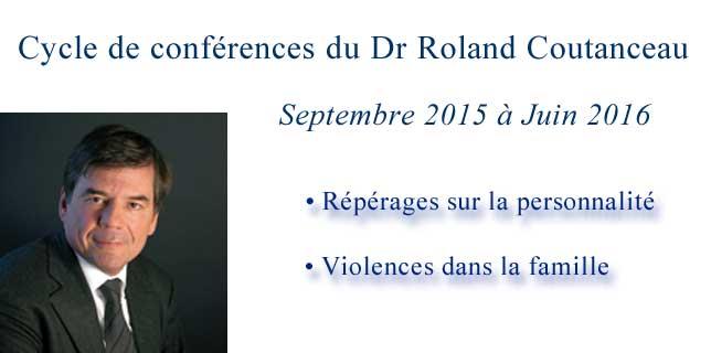 Conférences du Dr Roland Coutanceau
